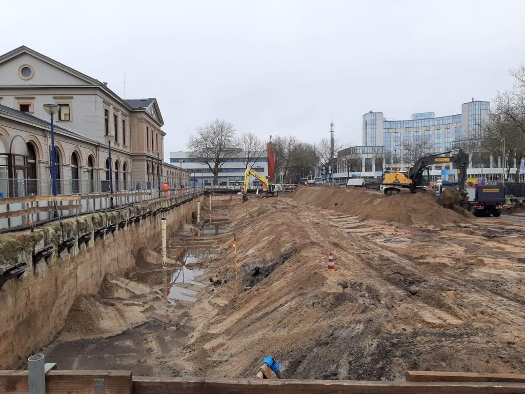 Bouw ondergrondse fietsenstalling en herinrichting Stationsweg, Zwolle